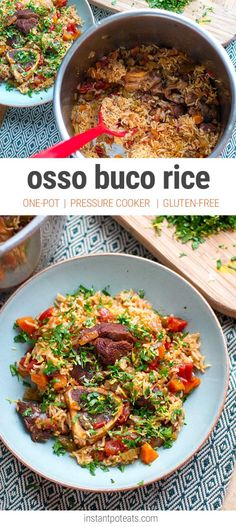 One-Pot Osso Buco Rice - Instant Pot Pressure Cooker Recipe