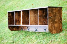 Rustic Farmhouse Oversized Entryway Wall Shelf with Coat Hangers and Cubicles