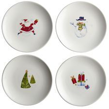 Christmas Icon Appetizer Plate Set