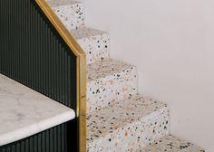 Terrazzo is making a major comeback // Apartment Therapy Terrazzo Flooring, Wooden Flooring, Kitchen Flooring, Penny Flooring, Linoleum Flooring, Brick Flooring, Rubber Flooring, Cheap Countertops, Formica Countertops