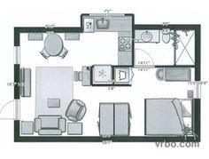 Waters House floor plan: 375 sq ft.