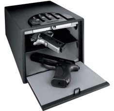 The Gunvault Multi Vault Standard Gun Safe has other features, such as steel construction and a backup key system in case of power loss. Home Security Camera Systems, Security Cameras For Home, Safety And Security, Gun Vault, Gun Storage, Safe Storage, Home Protection, Home Safes, Vaulting
