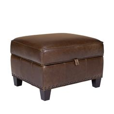 Even the best dressed interiors need a little function and storage. Add the Bradford II Leather Storage Ottoman for an out of sight place to store the kid's games, comfy blanket, or all those remote controls.