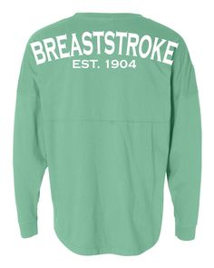 Show your love for your stroke with this 100% cotton breast stroke swim jersey. Made in the USA, this swim jersey comes in several different colors, including mint, coral, and heather gray, and is sur