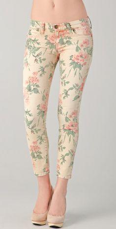 FLORAL PANTS//