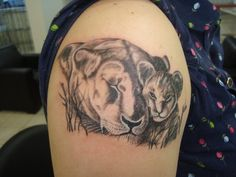 Mother Lion and Cub Tattooes | Google lion cub mother tatoo