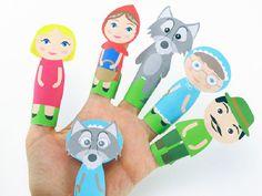 marionnettes à doit en papier