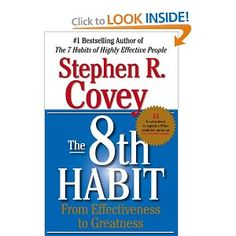 bda2392e93734 The 8th Habit  From Effectiveness to Greatness  Stephen R. Covey   9780684846651  Amazon.com  Books