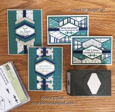 My focus this week has been about the beautiful assortment of Designer Series Paper Stampin' Up! has in the Annual Catalog and Occasions Catalog. Today's post features the True Gentleman Designer Series Paper with Truly Tailored Bundle!