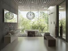 diseño de baño minimalista