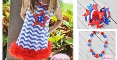 Adorable Red, White & Blue dress sets!