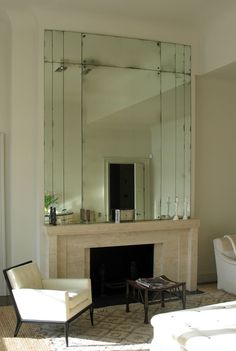 Rupert Bevan - Antiqued Mirror Glass - Art Deco Overmantel Mirror
