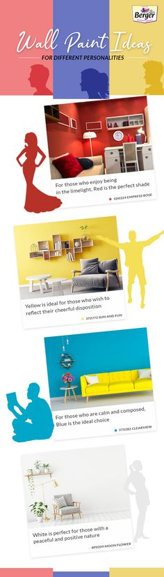 Wall colours that reflect your personality? Here's something for you.  For more wall colour ideas browse through Berger Colour Magazine. #wallpaints #wallpaintideas #homelove #wallpainttips #homepaintingideas #wallinspirations #colourinspiration #decorinspiration #decorlove #decorideas #homepaintingguide #homepaintingtips #decorguide #decortricks