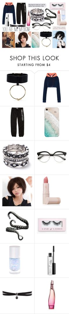 """Cecilia Reality Three."" by nogenderedkid ❤ liked on Polyvore featuring adidas, Hollister Co., Gray Malin, WithChic, Clair Beauty, Lipstick Queen, Boohoo, MAC Cosmetics, Fallon and Donna Karan"