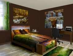 Nature Wall Murals | Custom Mural & Nature Wall Sticker Sizes at http://www.visionbedding.com/WallMurals/Nature.php  #NatureWallMurals, #CustomWallMurals, #HomeDecorIdeas