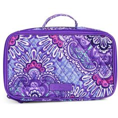Vera Bradley Blush & Brush Makeup Case in Lilac Tapestry (770 MXN) ❤ liked on Polyvore featuring beauty products, beauty accessories, bags & cases, lilac tapestry, purse makeup bag, vera bradley, travel bag, wash bag and travel toiletry case