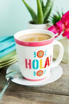 Hola!   Coffee time = Pinterest time.