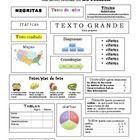 Non-Fiction Text Features - Spanish - Características de  no ficción - español