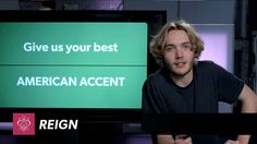 Watch Toby Regbo give his best American accent! Reign Season 2 premieres Thursday, Oct. 2. SUBSCRIBE to The CW https://youtube.com/subscription_center?add_us...