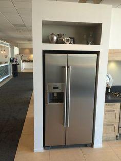 Afbeeldingsresultaat voor amerikaanse koelkast ombouw