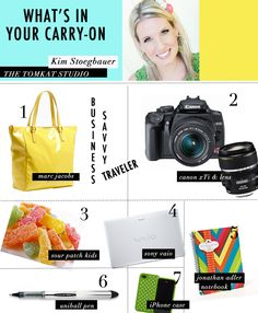 What's in your carry-on with @Matty Chuah TomKat Studio #heycaryl