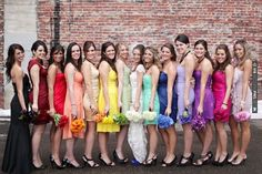 rainbow wedding | CHECK OUT MORE IDEAS AT WEDDINGPINS.NET | #weddings #bridesmaids #bridal #dresses #fashion #forweddings