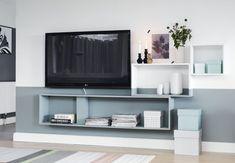Smukt tv-hjørne for kun kr. Colorful Furniture, Unique Furniture, Cheap Furniture, Furniture Design, Living Room Modern, Home Living Room, Cozy Living, Living Room Inspiration, Home Decor Inspiration
