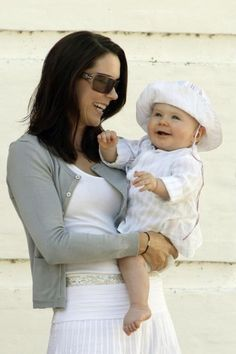 Princess Mary with baby Christian