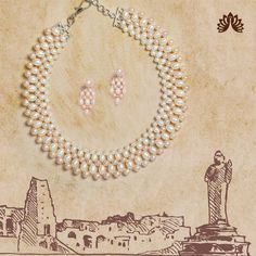 Product Code:JPH3609, Contact us on +91 9248036721. Dual tone themed Necklace stringed perfectly with dual color, Pearls ( Peach and white) allure the Contempo- Feminine stylish look! #krishnapearls #pearlsets #pearlnecklaces #pearlnecklaceset #pearlnecklace #pearlnecklacedesigns #pearlnecklaceph #freshwaterpearls #freshwaterpearlnecklace #originalpearls #naturalpearl #naturalpearls #purepearls #originalpearl #cityofpearls #hyderabadipearls #nizamipearls #necklacesets #pearls Pearl Necklace Designs, Pearl Necklace Set, Pearl Set, Freshwater Pearl Necklaces, Pearl Jewelry, Fine Jewelry, Peach, Gems, Jewels