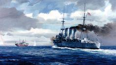 1914 08-12 HMAS Encounter apresa el Zambezi
