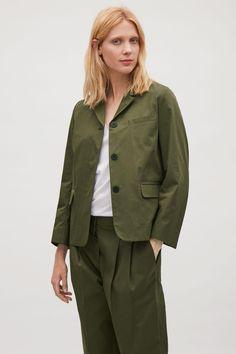 cos CASUAL COTTON-LINEN BLAZER - Khaki Green– Google Поиск Cotton Blazer, Linen Blazer, Cos Jackets, Khaki Green, Cotton Linen, Military Jacket, Raincoat, Bomber Jacket, Clothes For Women