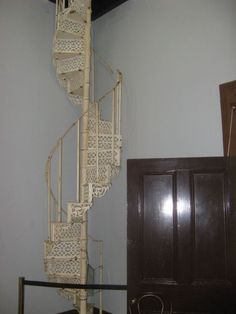 Narrow spiral staircase at Capt nCook Museum - was once a convent, Cooktown Queensland, Australia Loft Staircase, Stairs, Spiral Staircases, Greek House, Museum, Mirror, Tiny Houses, Australia, Travel