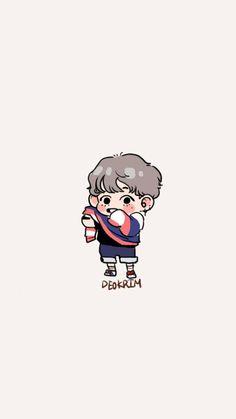 Bts Drawings, Cute Chibi, Bts Fans, Kpop Fanart, I Love Bts, Bts Bangtan Boy, Bts Taehyung, K Pop, Cute Cartoon