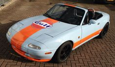 Our mx5 in gulf livery