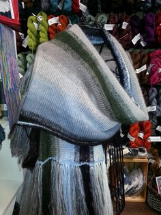 Blanket Shawl so soft and light a dream to knit and wear