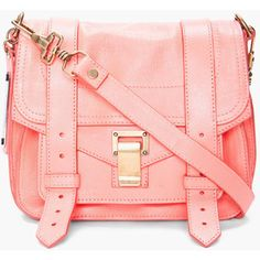 Love the color! Peachy, rosy, soft coral great to bring just the right amount of color to an outfit. Messenger bags are the best!