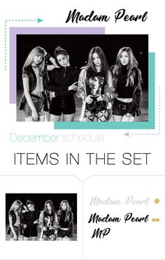 """""""[SCHEDULE] December Madam Pearl"""" by official-madampearl ❤ liked on Polyvore featuring art, december, schedule and bsamp"""