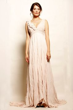 Didion Everafter Dress comming soon to #annahstretton #vintage #pink #tan #bridesmaids #fabricflowers