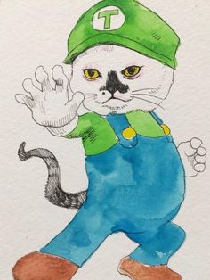 By  Yuko Higuchi Crazy Cat Lady, Crazy Cats, I Love Cats, Cool Cats, Japanese Artwork, Kinds Of Cats, Fairytale Art, Illustration Artists, Cat Drawing