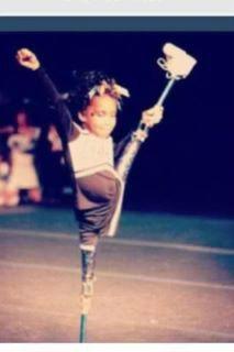 No excuses. #cheerleading #precious #nevergiveup