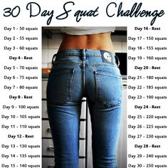 30 Day Squat Challenge Ok, girls...WHO'S WITH ME???  I'm starting this tomorrow!!!!!  I'll post measurements on butt and thighs.