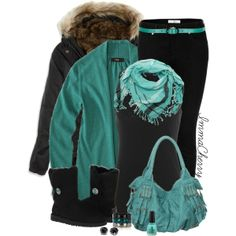 Winter Teal, created by immacherry on Polyvore