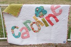 Personalized name quilts...love this. Super cute!.