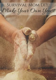 Make Your Own Yeast – Survival Mom Learn how to make your own yeast with these simple instructions. This is an important skill because store-bought yeast has a relatively short shelf life. Survival Food, Survival Prepping, Survival Skills, Survival Hacks, Survival Quotes, Homestead Survival, Emergency Preparation, Survival Equipment, Wilderness Survival