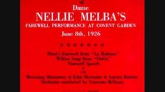 Nellie Melba - YouTube