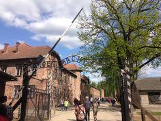 Ingang Auschwitz 2016. Street View, Warsaw, Poland