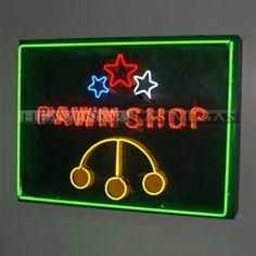 "neon sign - pawn shop 48"" x 36"""