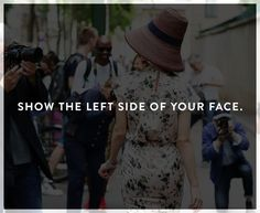 How to look better in photos: show the left side of your face