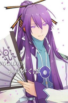 Vocaloid Long Purple Gakupo Halloween Wigs