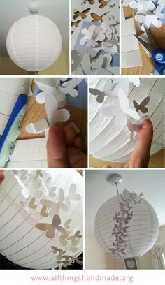 Paper lantern... Butterflies... Light shade... Love this!